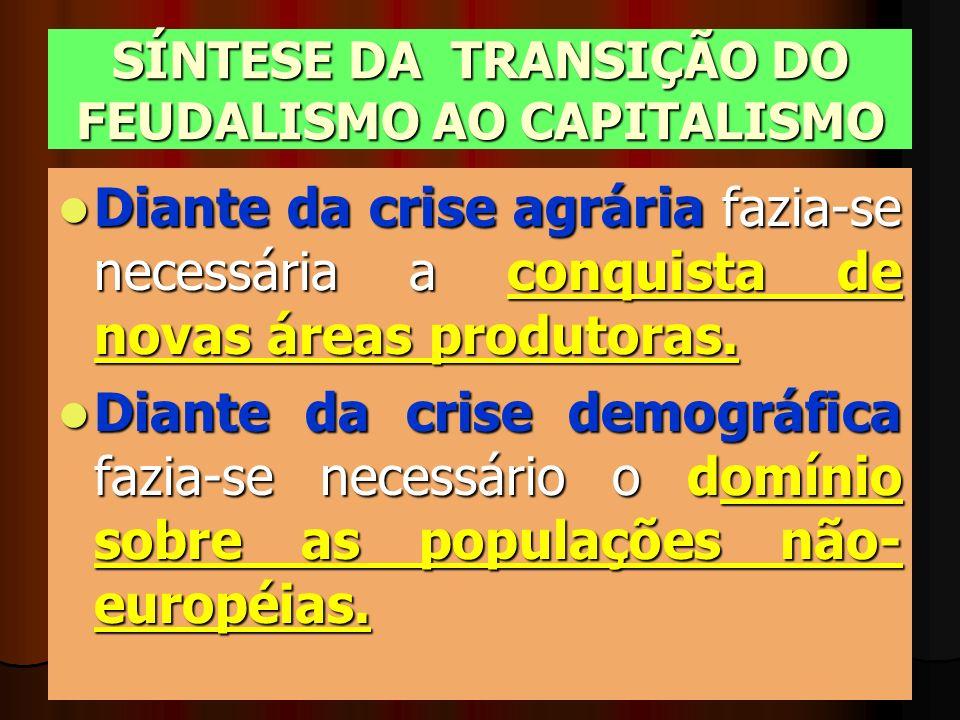 SÍNTESE DA TRANSIÇÃO DO FEUDALISMO AO CAPITALISMO