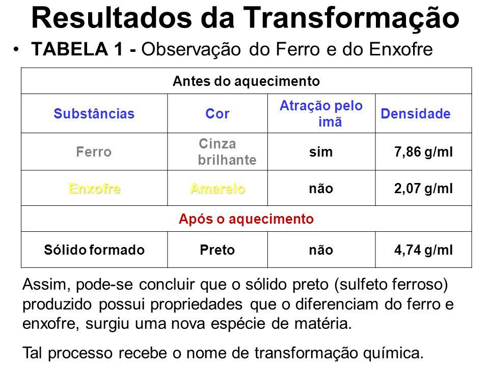 Resultados da Transformação