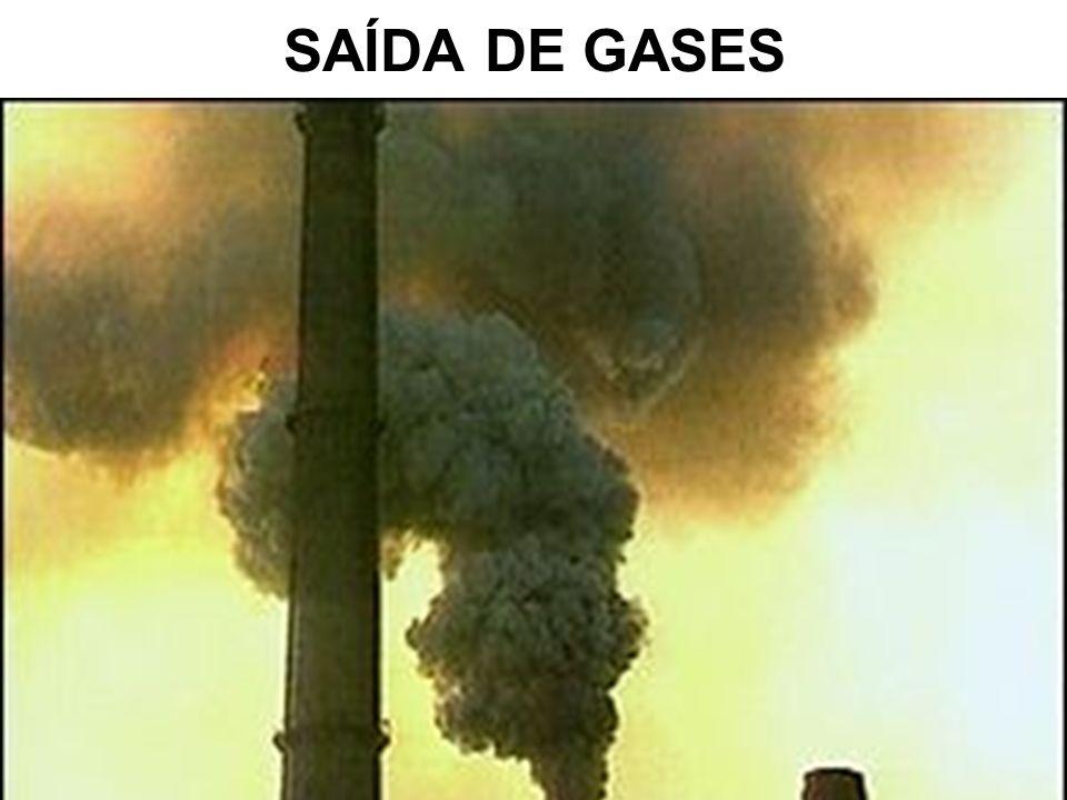 SAÍDA DE GASES