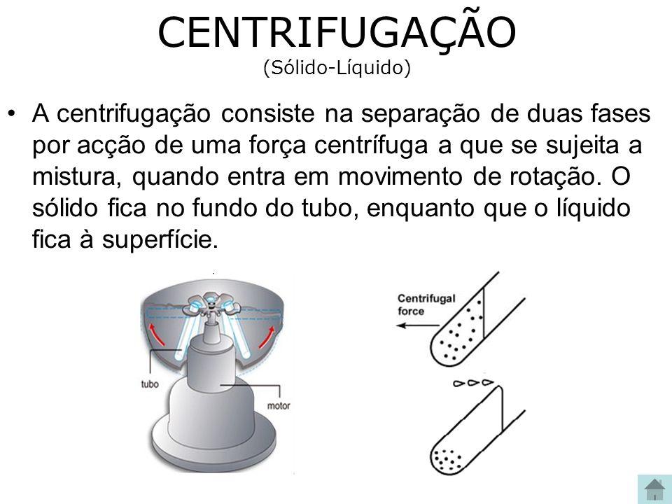 CENTRIFUGAÇÃO (Sólido-Líquido)