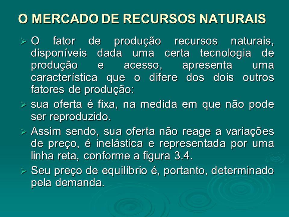 O MERCADO DE RECURSOS NATURAIS