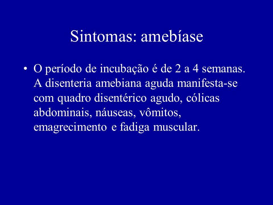 Sintomas: amebíase