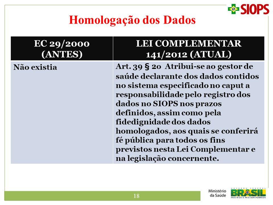 LEI COMPLEMENTAR 141/2012 (ATUAL)