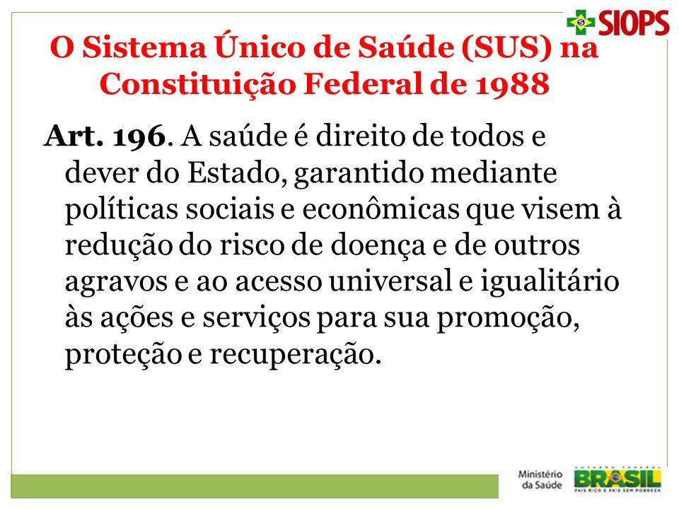 O Sistema Único de Saúde (SUS) na Constituição Federal de 1988