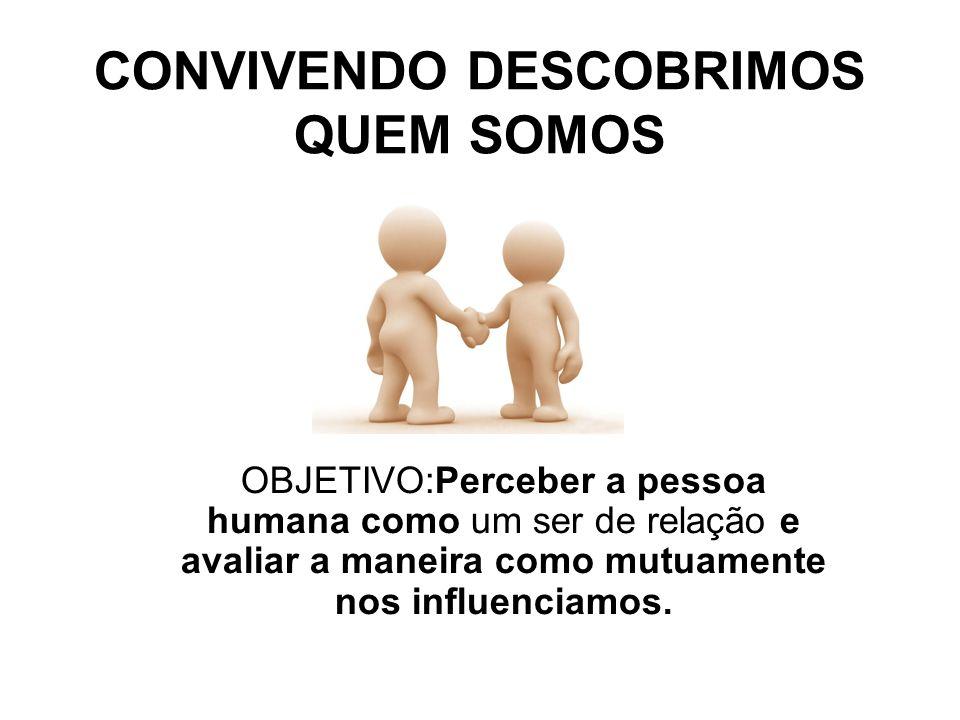 CONVIVENDO DESCOBRIMOS QUEM SOMOS