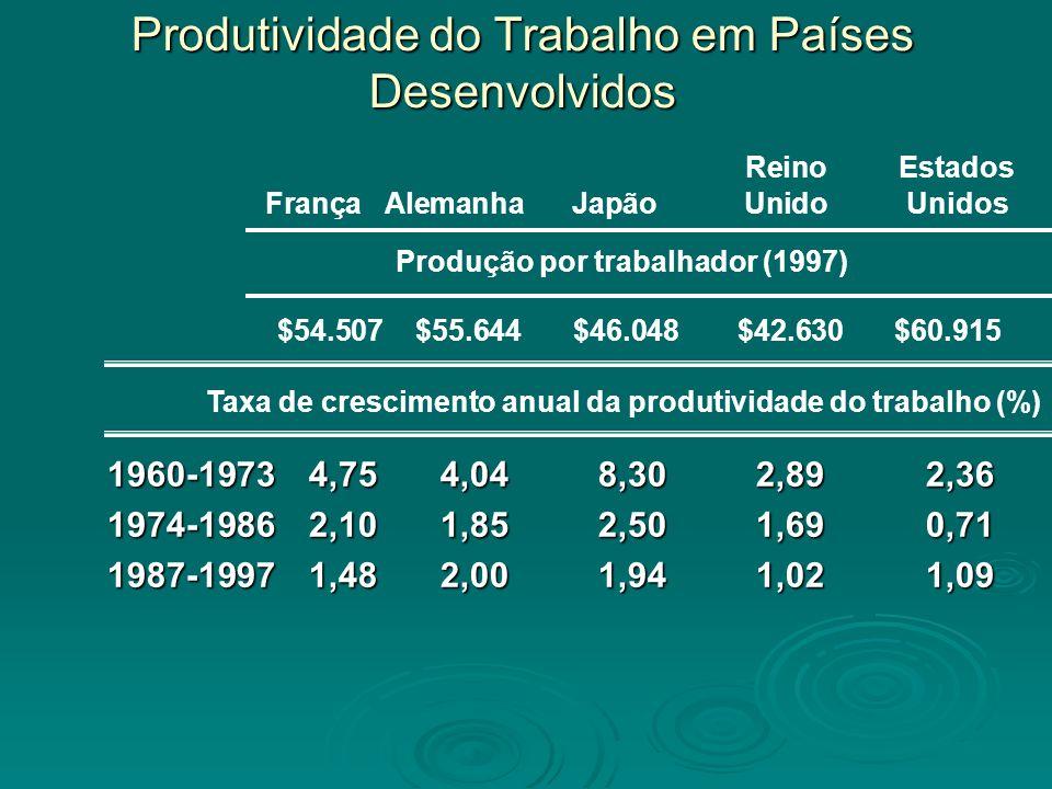 Produtividade do Trabalho em Países Desenvolvidos