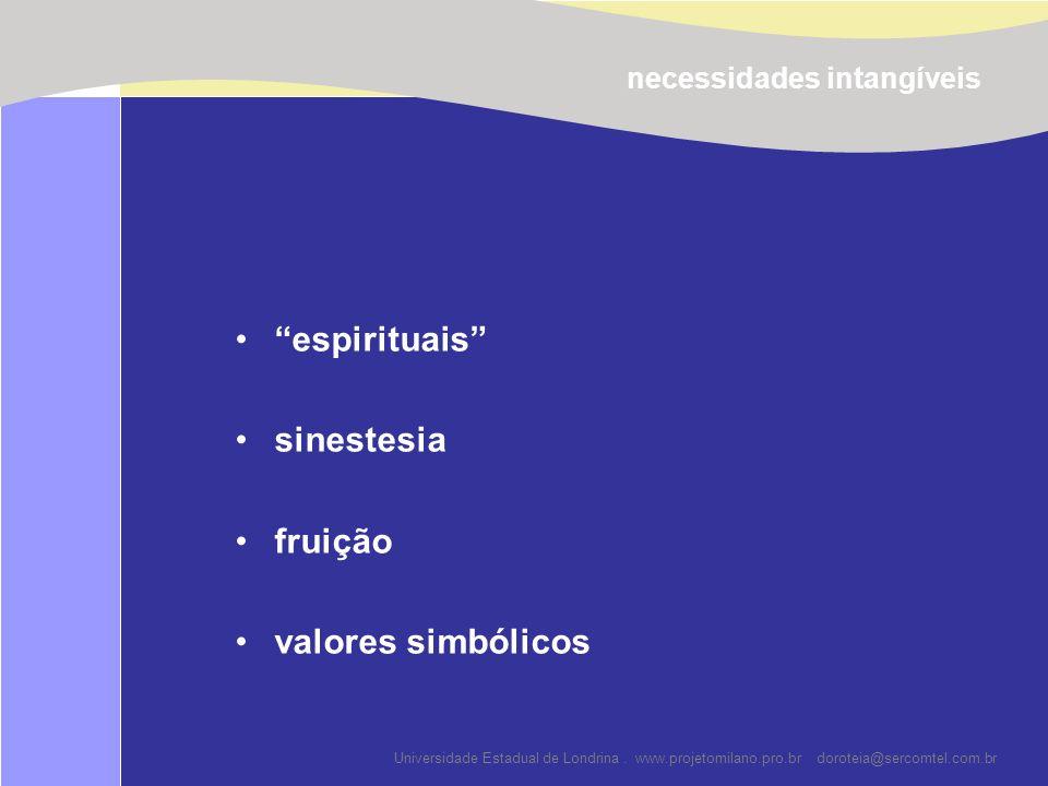 espirituais sinestesia fruição valores simbólicos