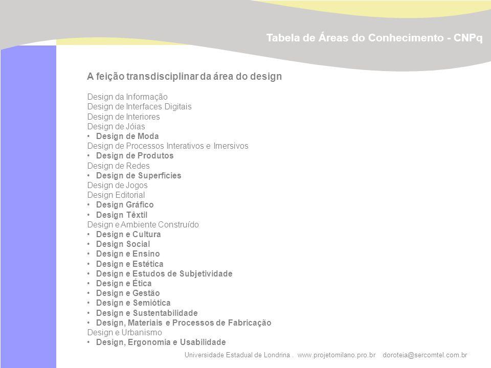 Tabela de Áreas do Conhecimento - CNPq