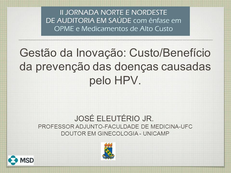 Gestão da Inovação: Custo/Benefício da prevenção das doenças causadas pelo HPV.