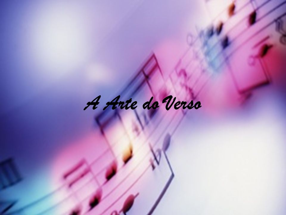 A Arte do Verso