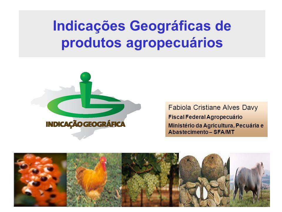 Indicações Geográficas de produtos agropecuários