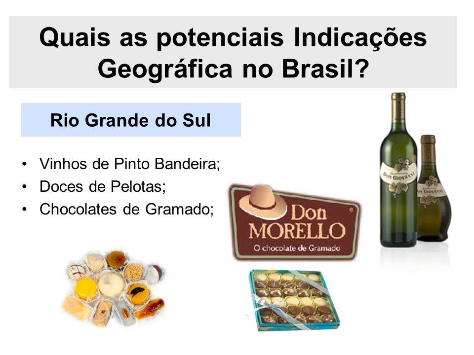 Quais as potenciais Indicações Geográfica no Brasil