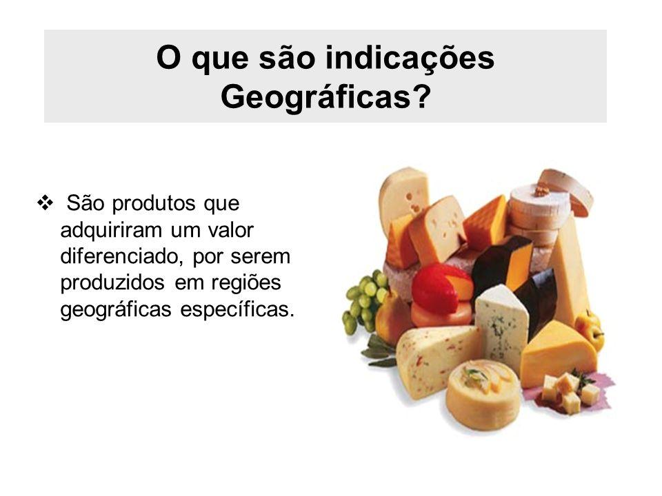 O que são indicações Geográficas