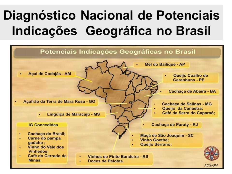 Diagnóstico Nacional de Potenciais Indicações Geográfica no Brasil