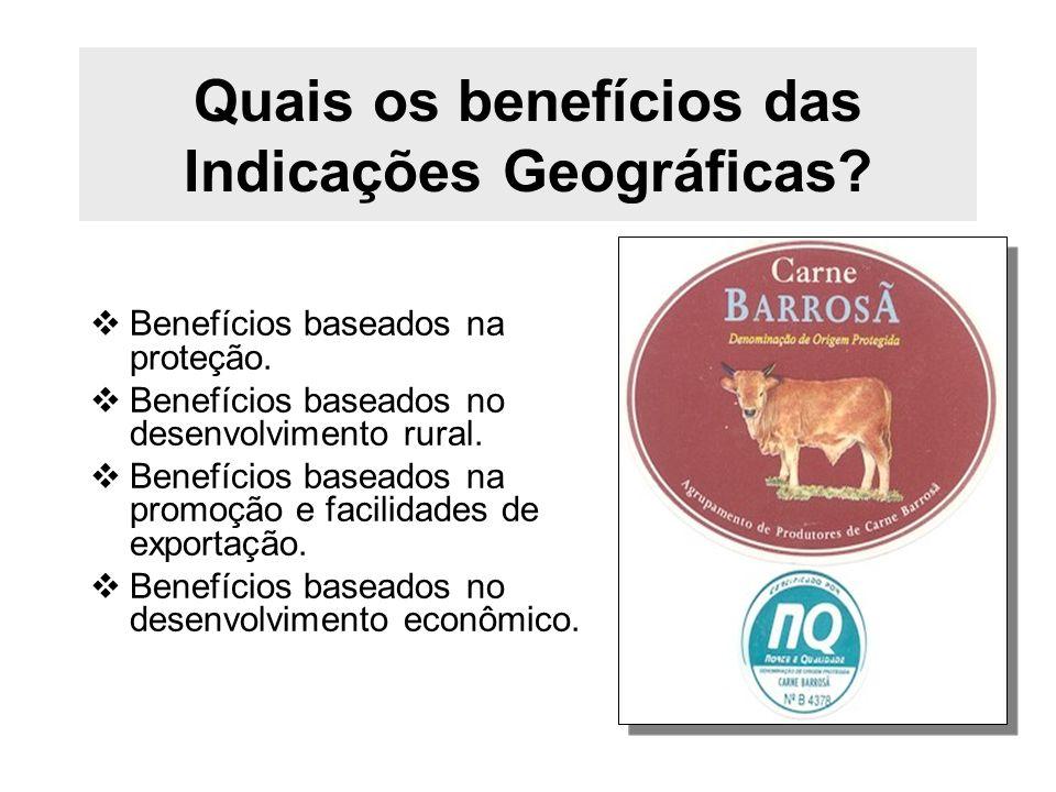 Quais os benefícios das Indicações Geográficas