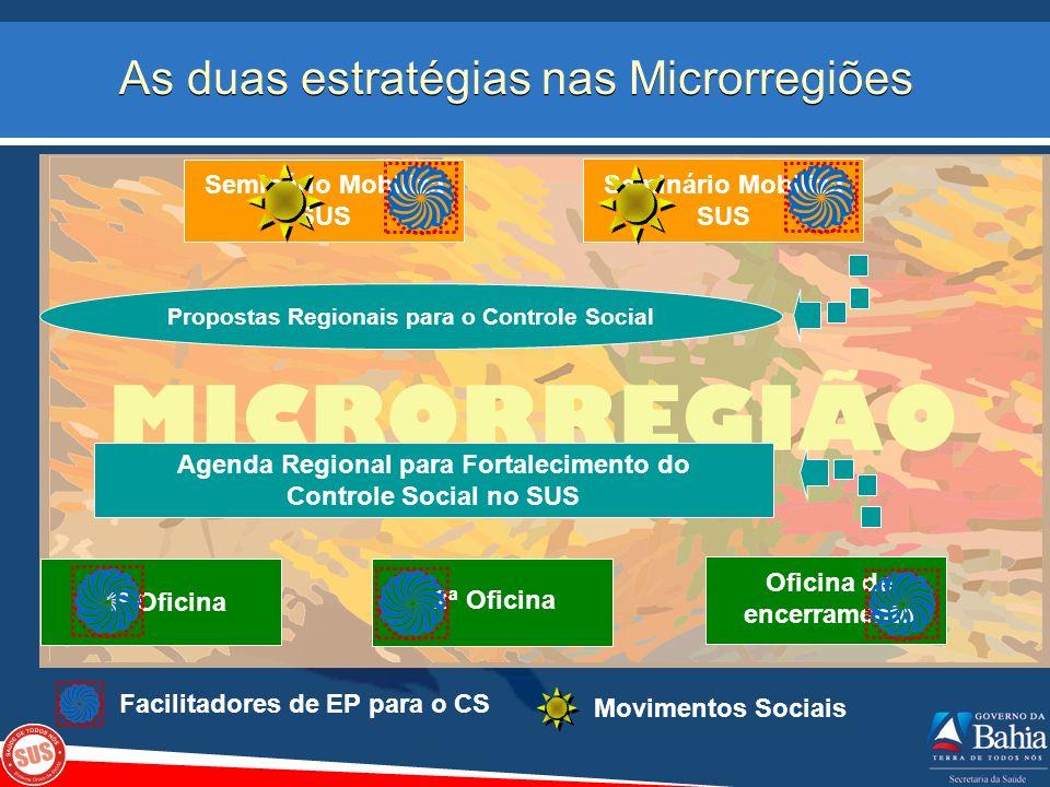 As duas estratégias nas Microrregiões