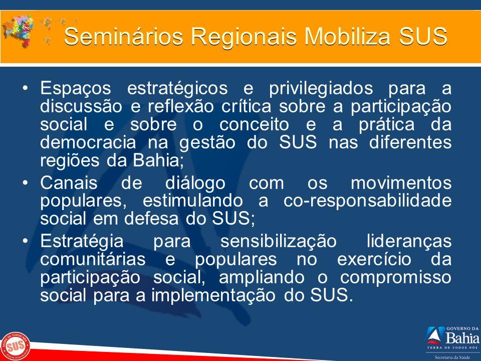Seminários Regionais Mobiliza SUS