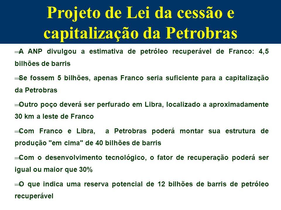 Projeto de Lei da cessão e capitalização da Petrobras