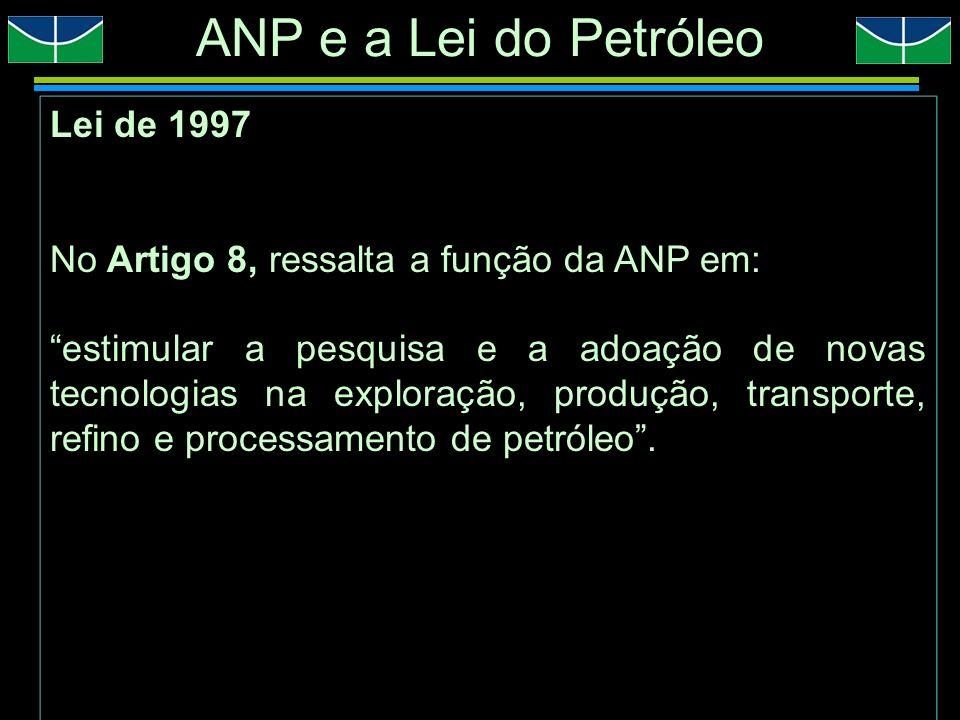 ANP e a Lei do Petróleo Lei de 1997