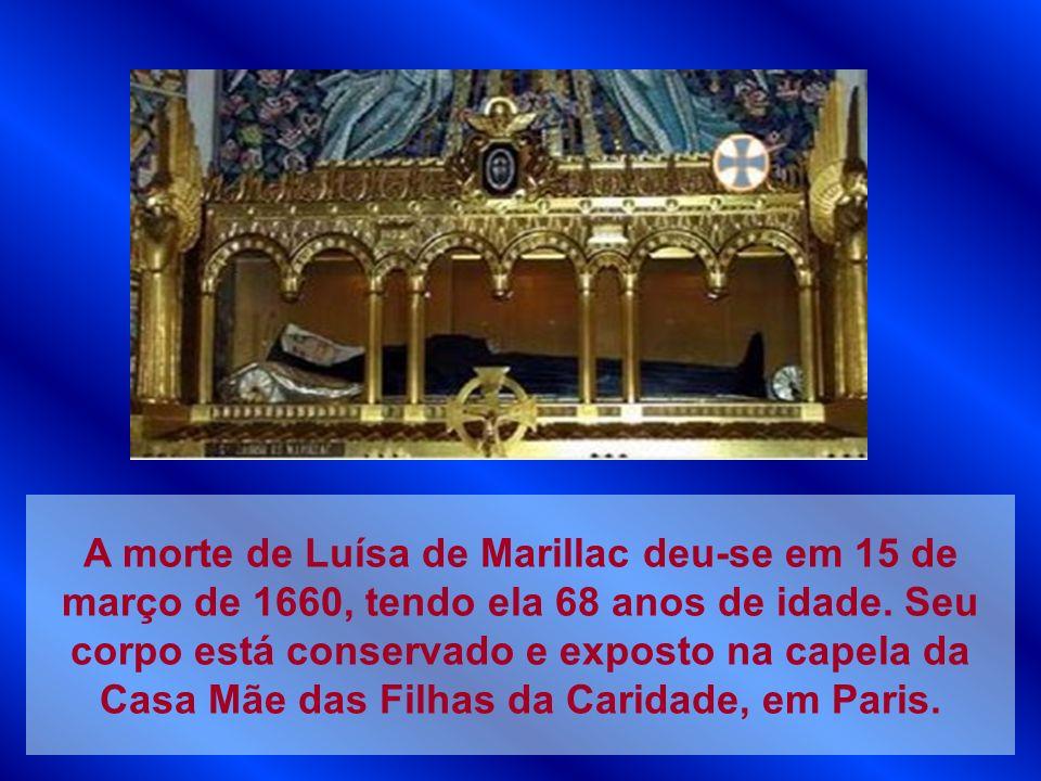 A morte de Luísa de Marillac deu-se em 15 de março de 1660, tendo ela 68 anos de idade.