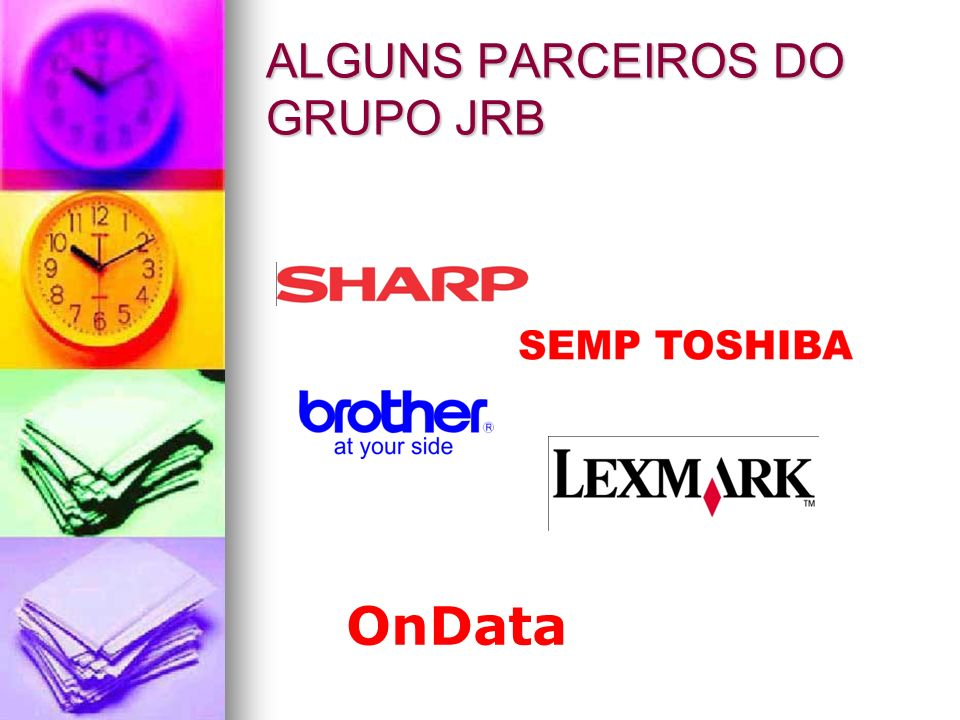 ALGUNS PARCEIROS DO GRUPO JRB
