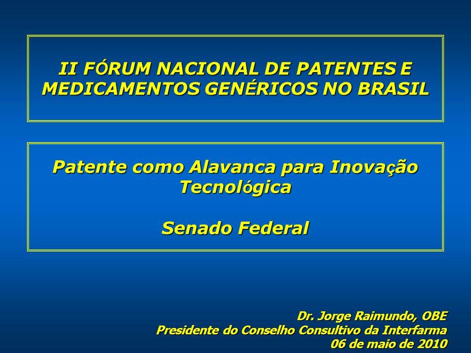 II FÓRUM NACIONAL DE PATENTES E MEDICAMENTOS GENÉRICOS NO BRASIL