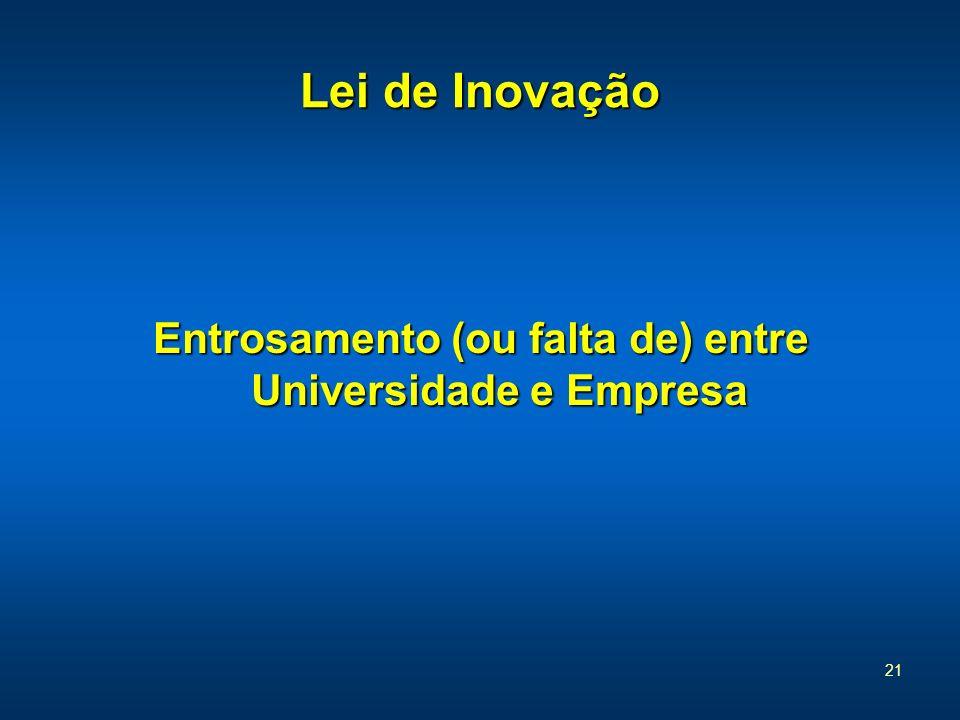 Entrosamento (ou falta de) entre Universidade e Empresa