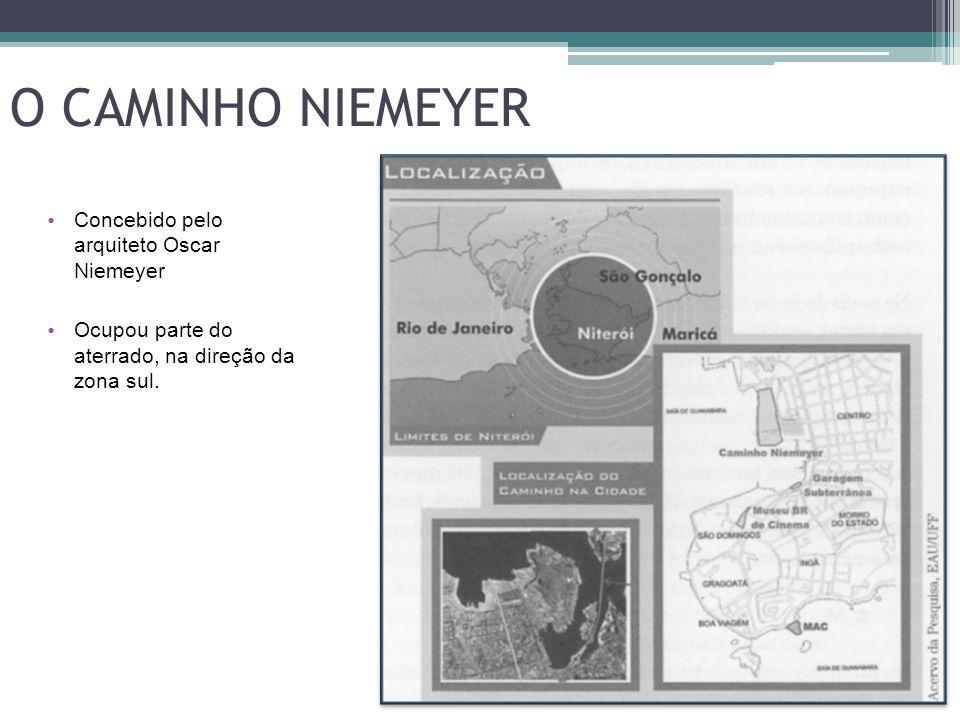O CAMINHO NIEMEYER Concebido pelo arquiteto Oscar Niemeyer