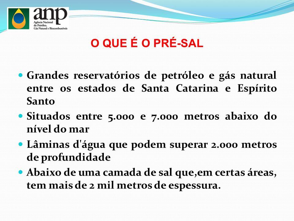 O QUE É O PRÉ-SAL Grandes reservatórios de petróleo e gás natural entre os estados de Santa Catarina e Espírito Santo.