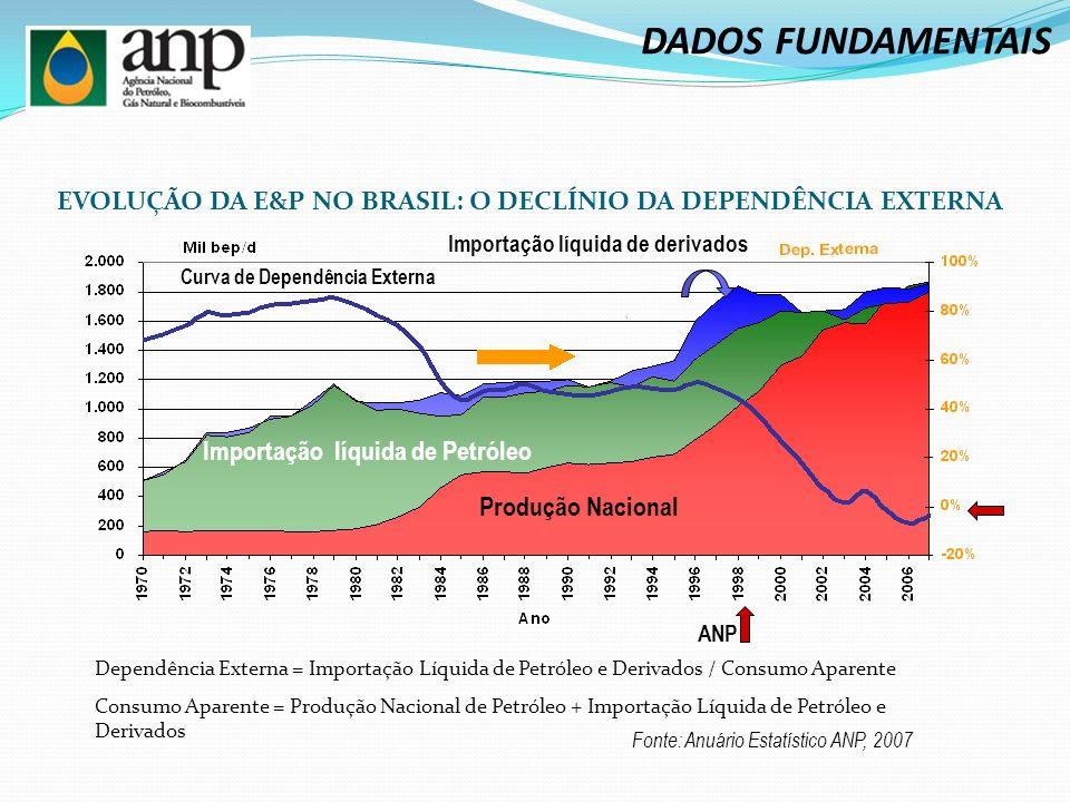 EVOLUÇÃO DA E&P NO BRASIL: O DECLÍNIO DA DEPENDÊNCIA EXTERNA