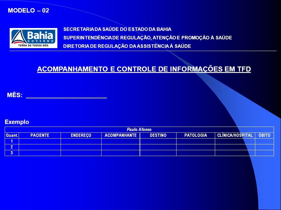 ACOMPANHAMENTO E CONTROLE DE INFORMAÇÕES EM TFD