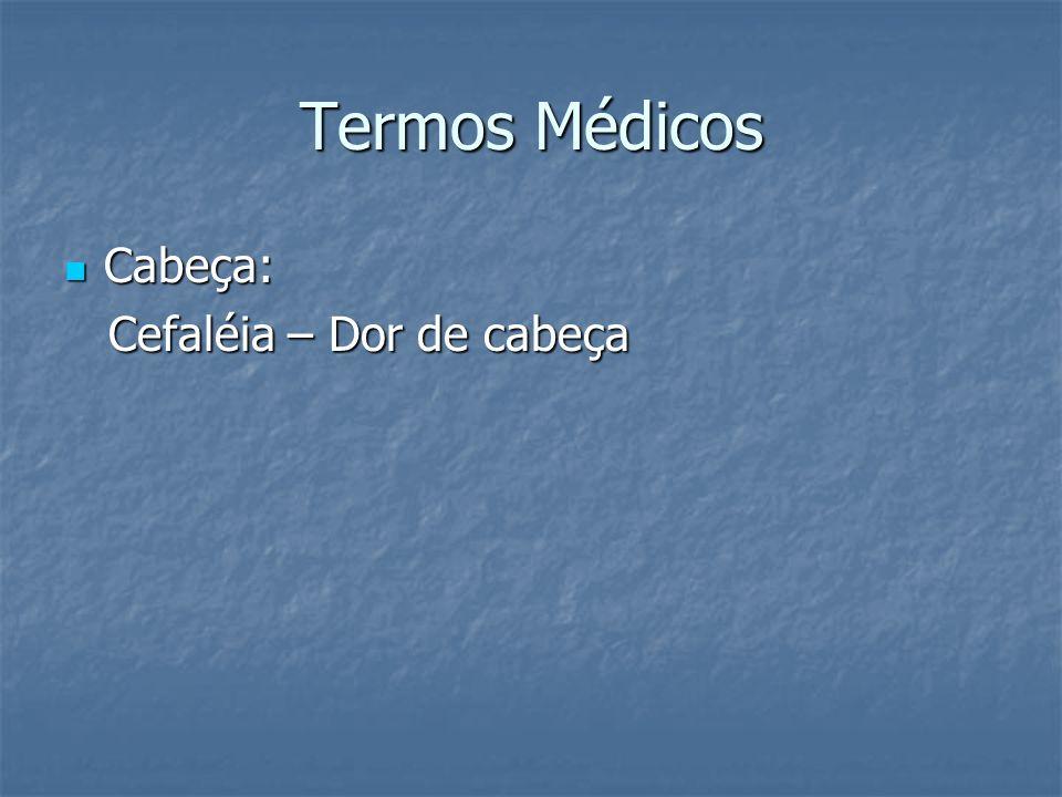 Termos Médicos Cabeça: Cefaléia – Dor de cabeça