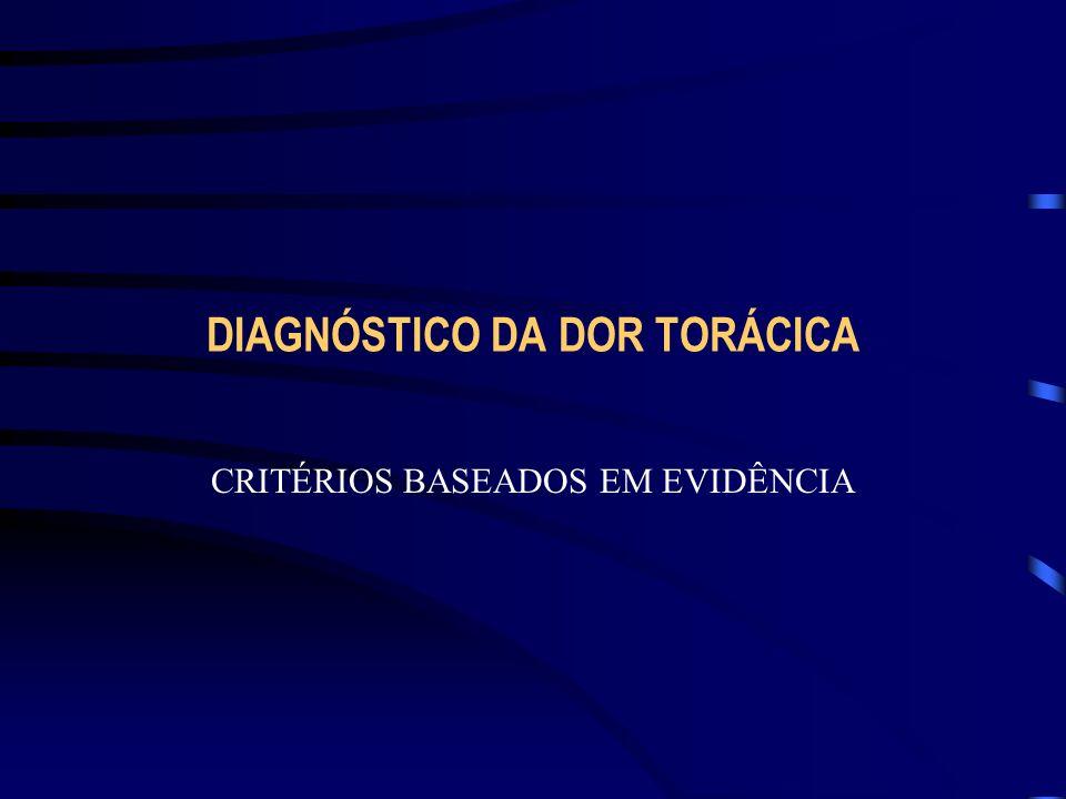 DIAGNÓSTICO DA DOR TORÁCICA