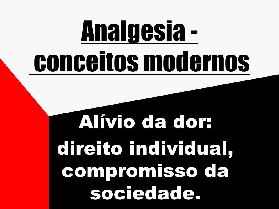 Analgesia - conceitos modernos