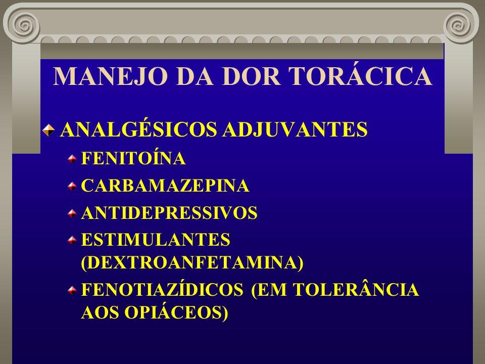MANEJO DA DOR TORÁCICA ANALGÉSICOS ADJUVANTES FENITOÍNA CARBAMAZEPINA
