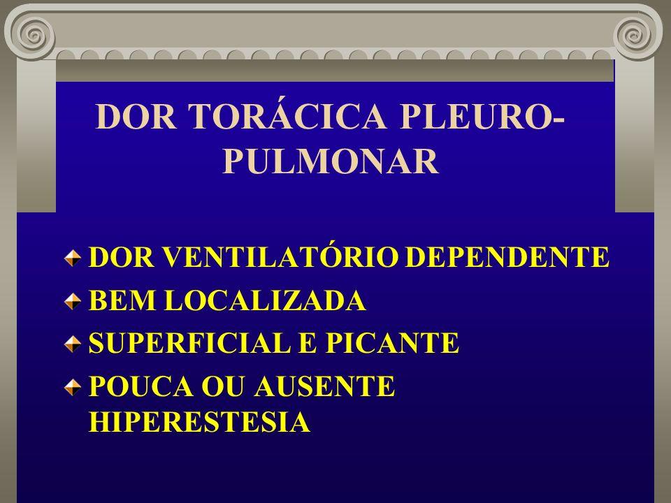 DOR TORÁCICA PLEURO-PULMONAR