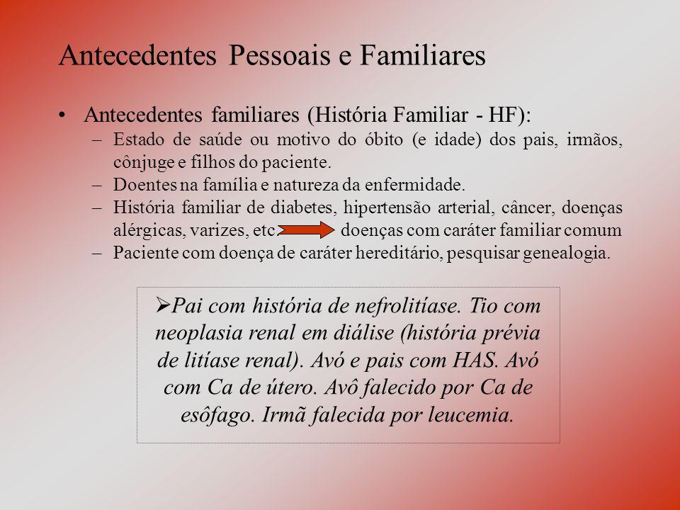 Antecedentes Pessoais e Familiares