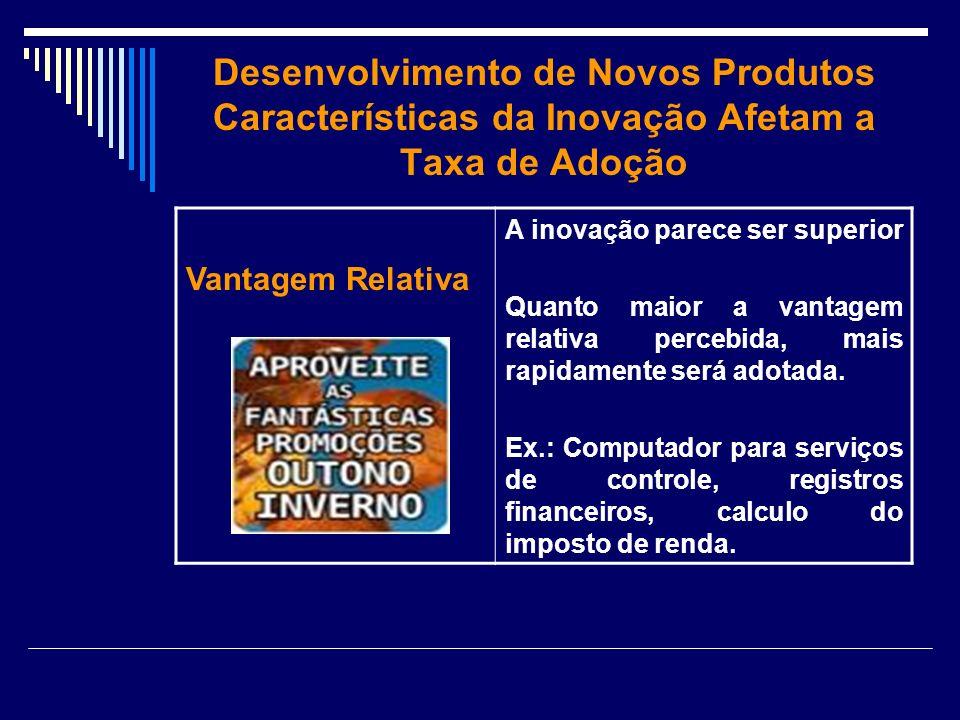 Desenvolvimento de Novos Produtos Características da Inovação Afetam a Taxa de Adoção
