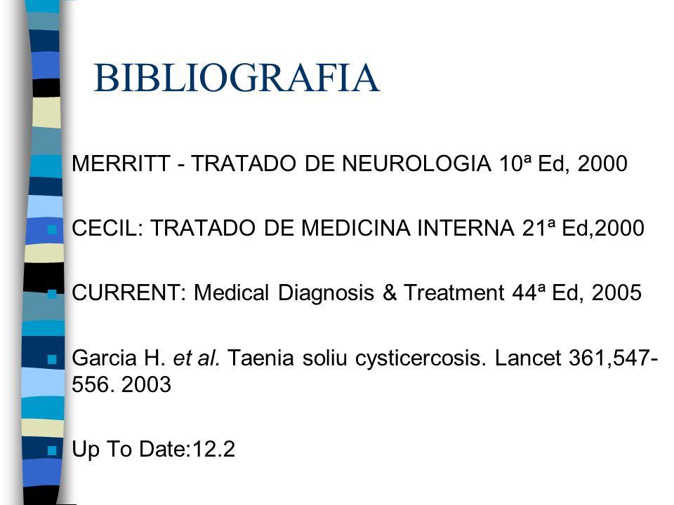 BIBLIOGRAFIA MERRITT - TRATADO DE NEUROLOGIA 10ª Ed, 2000