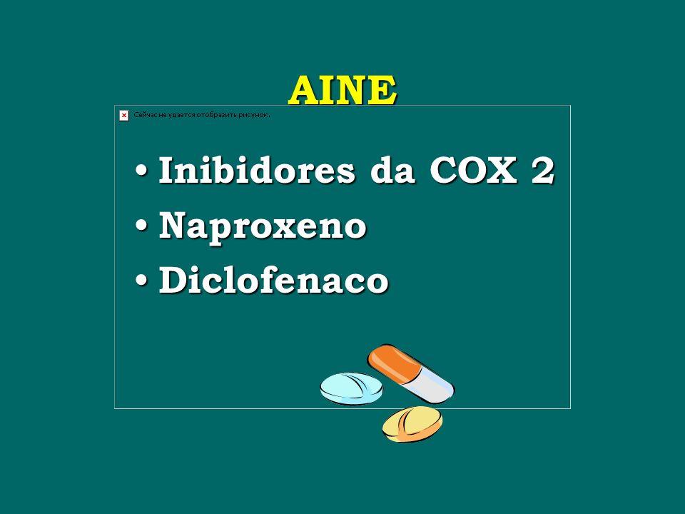 AINE Inibidores da COX 2 Naproxeno Diclofenaco