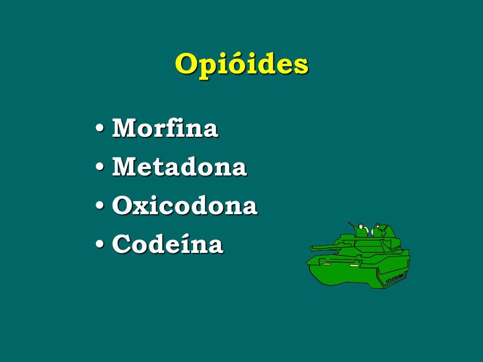 Opióides Morfina Metadona Oxicodona Codeína