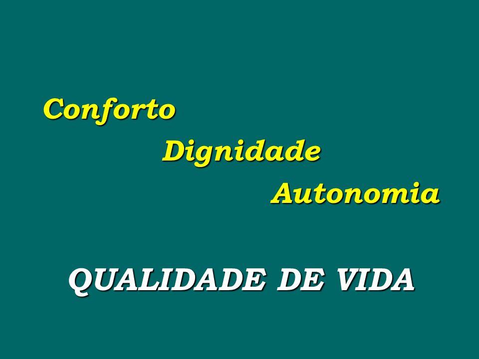 Conforto Dignidade Autonomia QUALIDADE DE VIDA