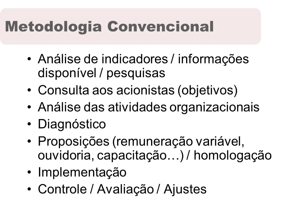 Metodologia Convencional