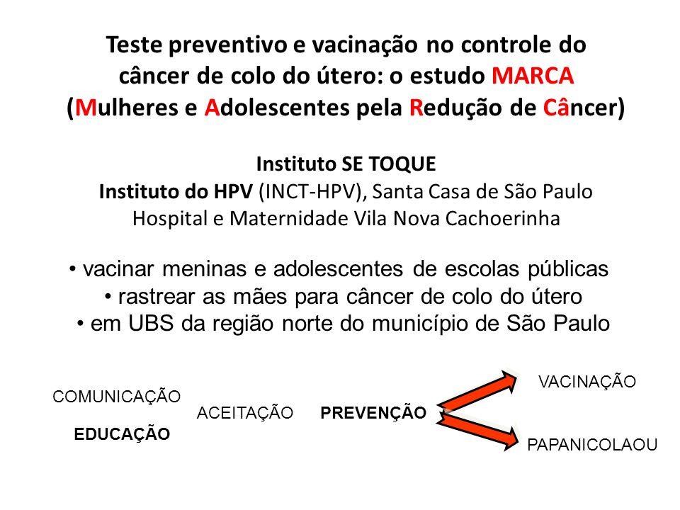 vacinar meninas e adolescentes de escolas públicas