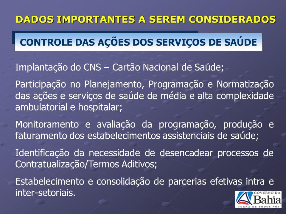 CONTROLE DAS AÇÕES DOS SERVIÇOS DE SAÚDE