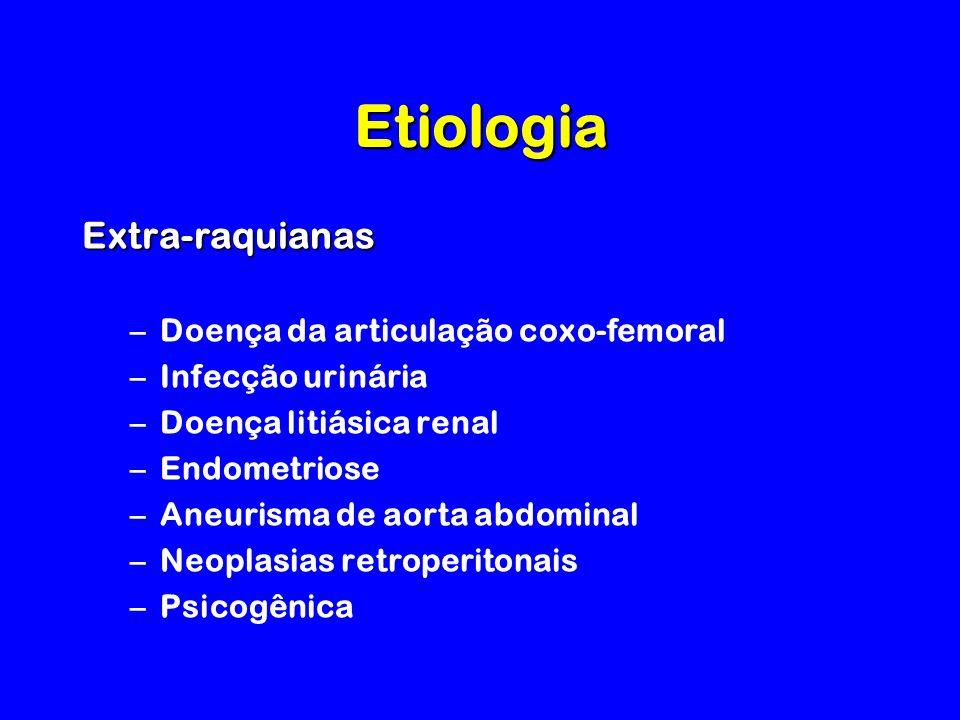 Etiologia Extra-raquianas Doença da articulação coxo-femoral