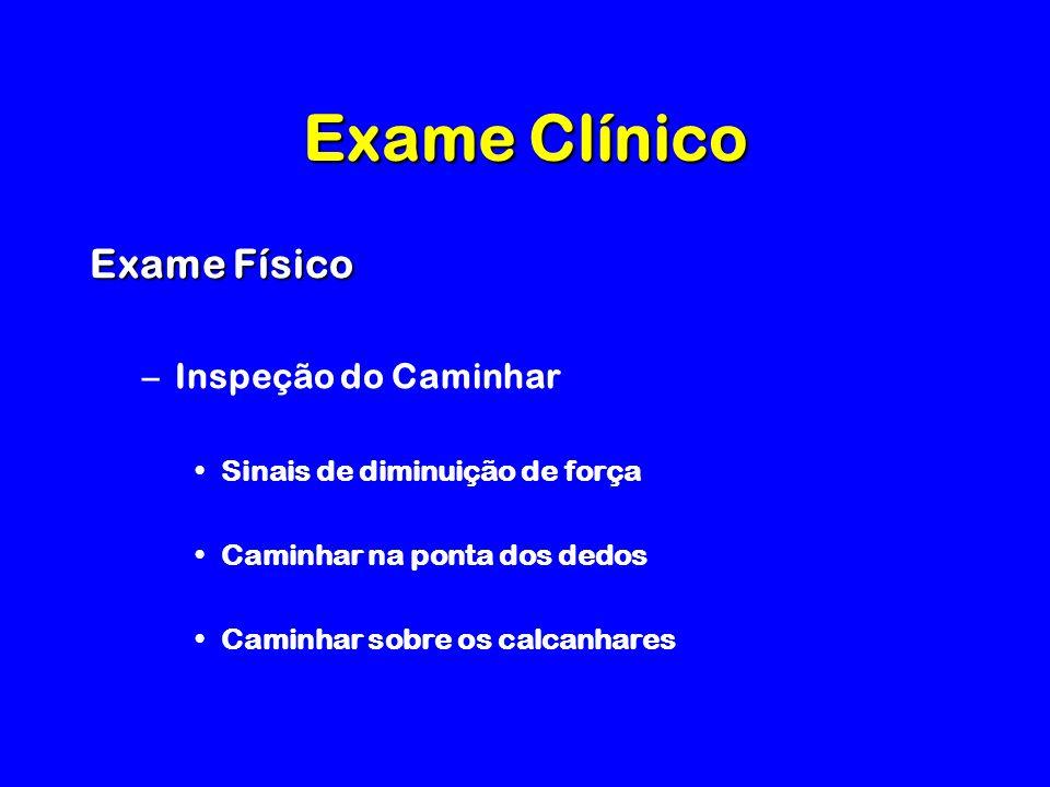 Exame Clínico Exame Físico Inspeção do Caminhar