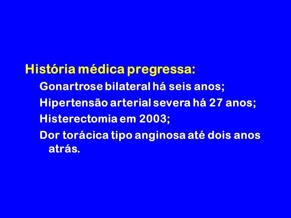 História médica pregressa: