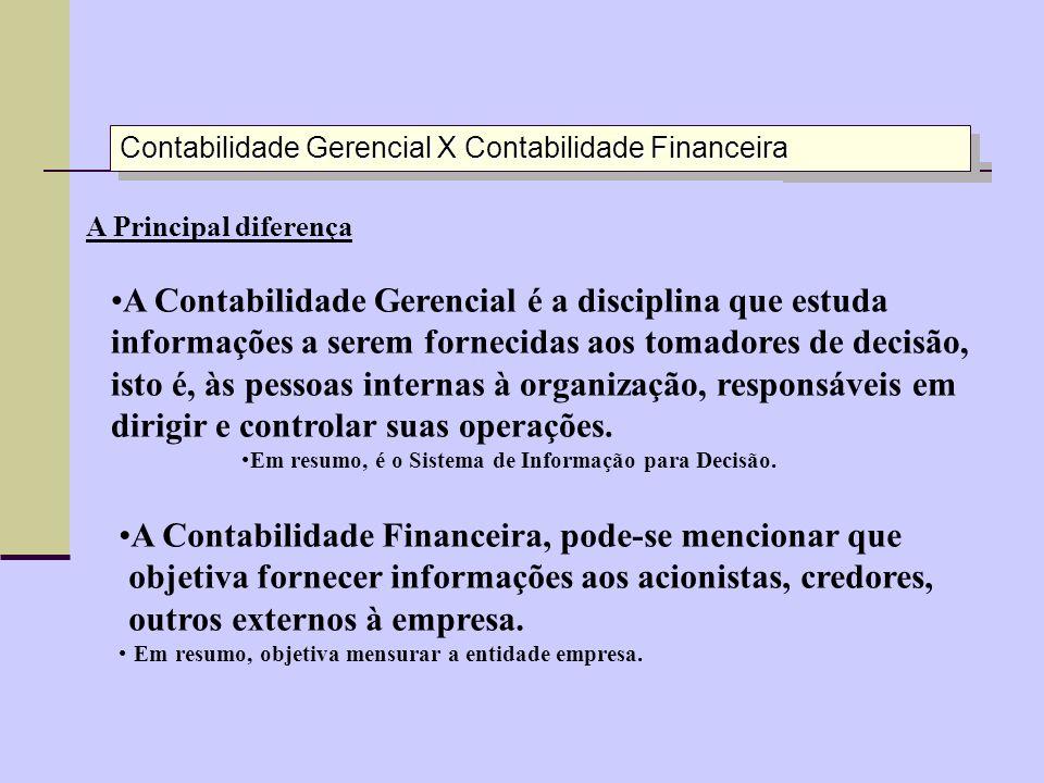 Contabilidade Gerencial X Contabilidade Financeira