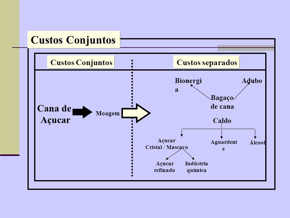Custos Conjuntos Cana de Açucar Custos separados Bionergia Adubo
